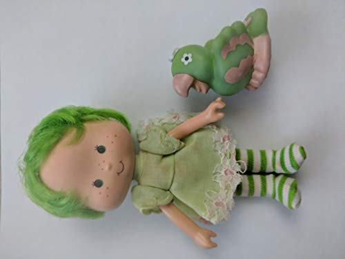 Vintage Lime Chiffon (1979) (Doll, Hat, Outfit, Tights, & Shoes) - Strawberry Shortcake (Retired) Doll - Collectible Replacement Toy - Loose (OOP Out of Package & Print) -