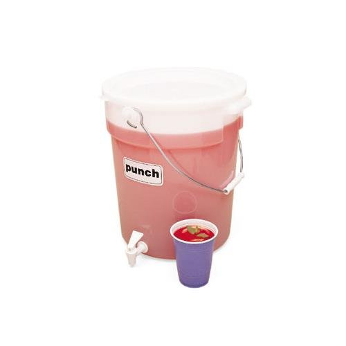 Cambro DSPR6148 White 6 Gal Beverage Dispenser