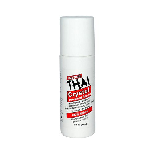(Thai Deodorant Stone Crystal Deodorant Mist Roll-On, 3 Ounce)