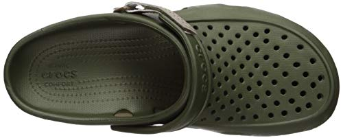 Green Crocs army khaki Zoccoli Clog Uomo Verde Swiftwater 354 Deck Men wz8qrnpZw