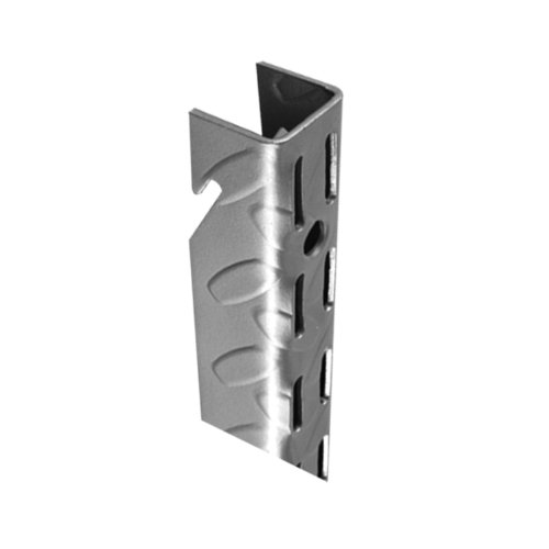 Heavy Duty Standards And Brackets - John Sterling HEAVYWEIGHT Diamond Plate Shelf Support System Adjustable Wall Standard, 75-inch, Platinum, 0201-75PM