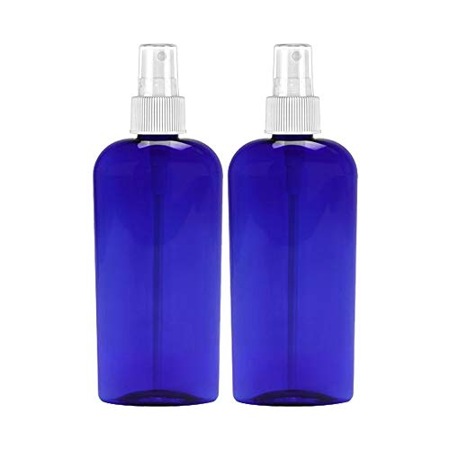 MoYo Natural Labs 8 Oz Large Mist Spray Bottle Refillable Reusable Empty 8 oz Fine Mist Bottle Cobalt Blue Oval 8 OZ Pack of 2