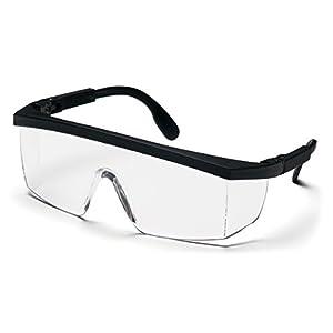 Pyramex Integra Safety Eyewear, Clear Lens With Black Ratchet Frame