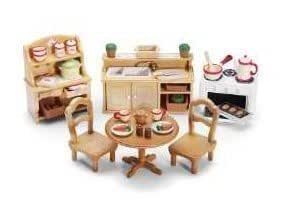 Game play calico critters deluxe kitchen set for Kitchen set wala game