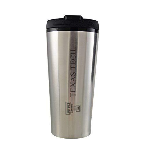 Texas Tech University -16 oz. Travel Mug Tumbler-Silver