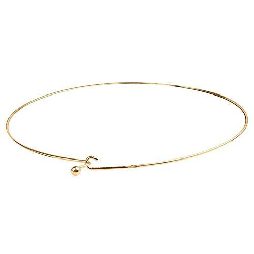 yakangda Metal Thin Gold Collar Necklace European and American Minimalist Style Minimalist Collar Wild Necklace