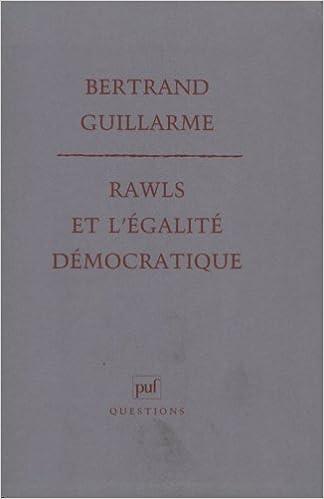 Téléchargement Rawls et l'égalité démocratique pdf, epub
