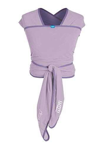 We Made Me Flow Active Baby Wrap Carrier from 8-35lbs, Adjustable Flexible Fabric, Breathable, and Light, Lavender