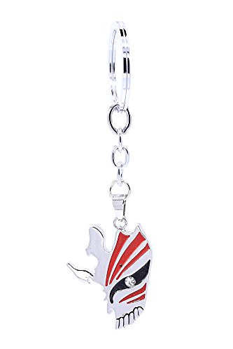 ICEMPs Bleach Cosplay Accessory Ichigo Crack Hollow Mask Pendant Key Ring V1
