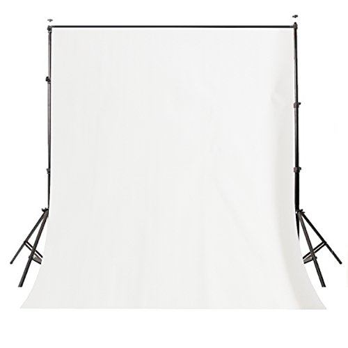 Muslin Background Solid White Color - Lyly County 5x7ft Photography Background Non-Woven Fabric Solid Color White Screen Photo Backdrop Studio Photography Props LY061
