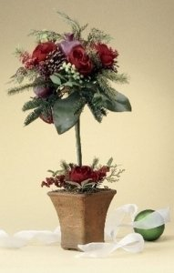 (Roman Holiday Decor Rose and Pepper Berry Tree)