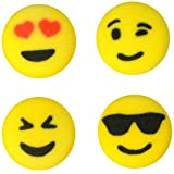 Emoji Edible Sugar Decorations for Cakes and Cupcakes 16 count