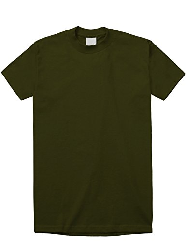 Hat and Beyond KS Mens Super Max Heavyweight Cotton T Shirt Solid Short Sleeve Tee S-5XL (Hunter Green/X-Large) (Pro Short 5 Sleeve T-shirts)