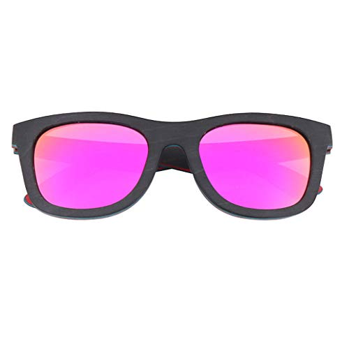 UV400 Deportes al de Madera de Pink sol Madera Aire polarizadas bambú Gafas de Brown Gafas Unisex Vintage bambú de Gafas Gafas Libre Color Oaqw7