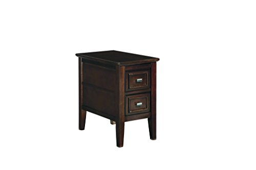 Ashley Furniture Signature Design Larimer Chair Side End Table Dark Brown