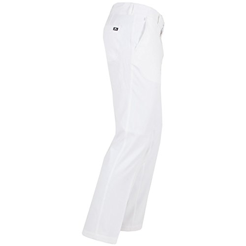 J.Lindeberg Men's Troon 2.0 Slim Fit Micro Str Pants, White, 32/32