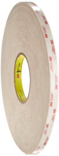 3M VHB Tape 4945 White, Mounting Tape, 1/2 in x 36 yd 45.0 mil (Pack of 1) by 3M
