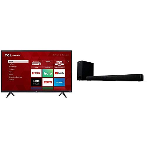 TCL 49S325 49 Inch 1080p Smart Roku LED TV (2019) with TCL Alto 5+ 2.1 Channel Home Theater Sound Bar with Wireless Subwoofer - TS5010