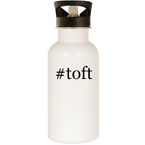 #toft - Stainless Steel Hashtag 20oz Road Ready Water Bottle, White