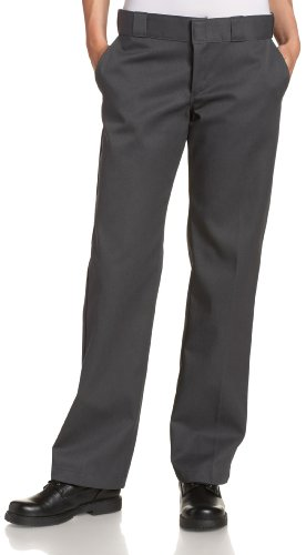 Dickies Women's Original Work Pant with Wrinkle And Stain Resistance,Charcoal,16 Regular