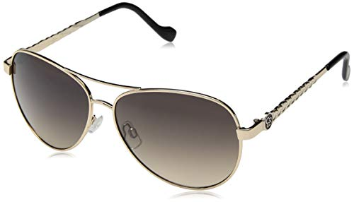 Jessica Simpson Women's J5702 Metal Aviator Sunglasses with 100% UV Protection, 60 mm