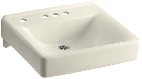 KOHLER K-2054-NL-47 Soho Wall-Mount Bathroom Sink with 4