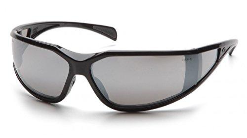 Pyramex SB5170DT Exeter Safety Glasses Blk Frme w/Sil Mirror A/Fog Lens(12 Pair) (Exeter Safety Glasses Pyramex)