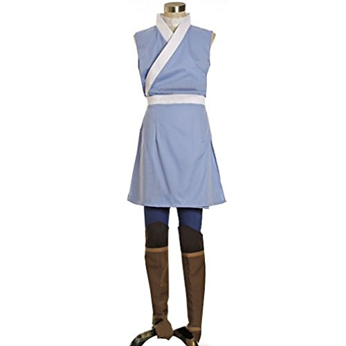 Avatar Female Costumes (Cuterole Women Avatar Sokka Cosplay Costume Halloween Outfit Custom)