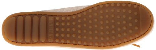 Minnetonka Canvas Moc - Mocasines de lona para mujer, color beige, talla 36 Beige (Beige (Natural))
