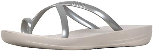 FitFlop Women's Iqushion Wave Silver Pearlised 5 M US