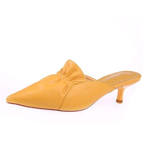 alto color punta caramella tacco B e spillo con tacco a con a punta tacco a YMFIE estiva Pantofole alto scarpe IqXEI