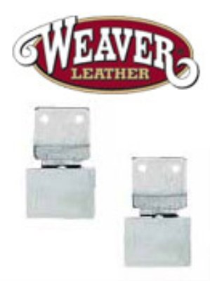 Weaver Leather All Metal Vertical Blevins Buckle, Aluminum/Stainless Steel, 2