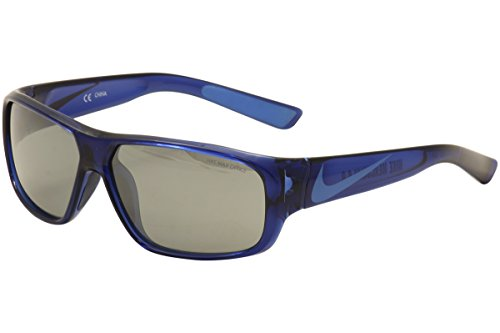 Nike EV0778-404 Mercurial 6.0 Sunglasses (One Size), Midnight Navy/Photo Blue, Grey with Silver Flash - Photo Grey Glasses