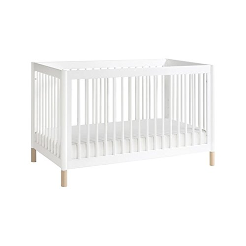 Babyletto Gelato 4-in-1 Convertible Crib with Toddler Bed Conversion Kit, White / Washed Natural
