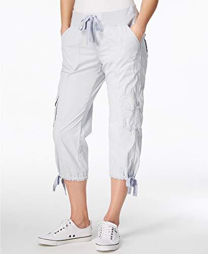 (Calvin Klein Women Medium Performance Poplin Capris Pants Blue M )