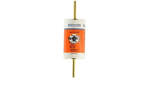 600VAC//500VDC Mersen AJT Amp-Trap 2000 SmartSpot Time-Delay//Class J Fuse with Maximum Circuit Protection 110 Ampere 1-5//8Diameter x 5-3//4 Length 1-5//8Diameter x 5-3//4 Length AJT110 200kA AC//100kA DC