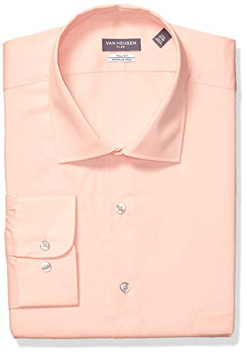 Van Heusen Men's FIT Dress Shirts Flex Collar Solid (Big and Tall), Blossom, 22