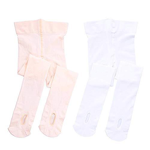 STELLE Girls Ultra Soft Ballet Dance Transition Tight for Kids Toddler (M, BP+WT)
