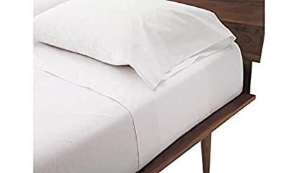Nice Rolux Linen Queen Sleeper Sofa Bed Sheet Set   White Solid 100% Cotton 800  Thread
