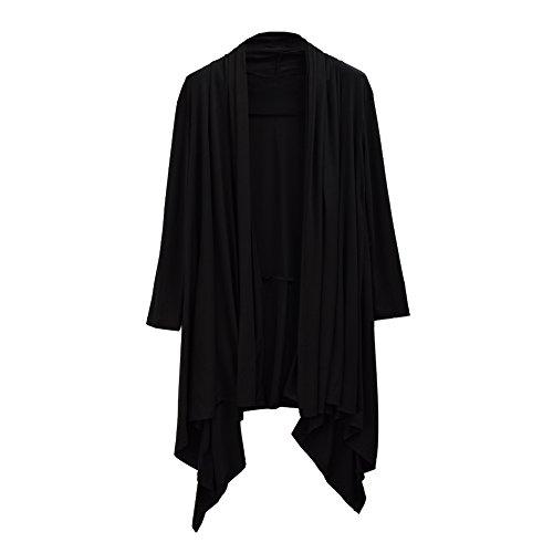 GRACEART Men's Gothic Long Cardigan Cape - Black by GRACEART