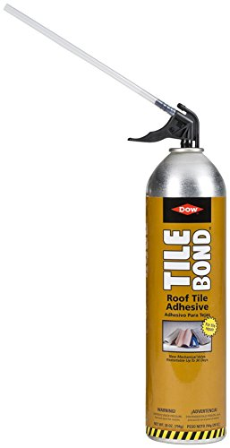 Barrel Roof - Great Stuff 308941 Bond(TM) Roof 28oz with Reusable Straw Tile Adhesive, Cream