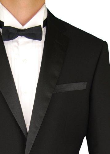 Fuomo Classic Men's 2 Button Tuxedo Suit Black