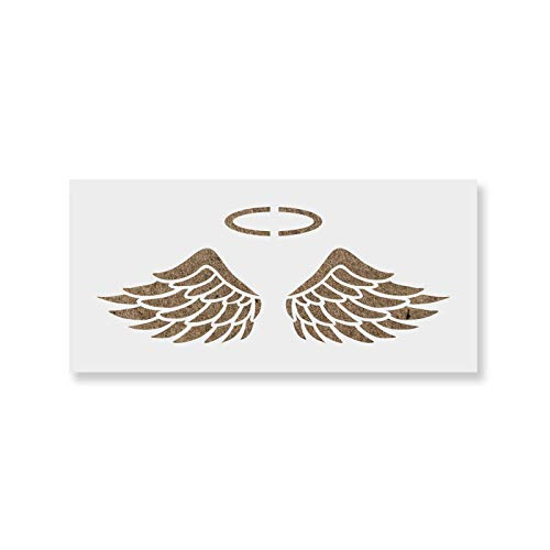 Angel Wings Stencil Template for Walls and Crafts - Reusable Stencils for Painting in Small & Large ()