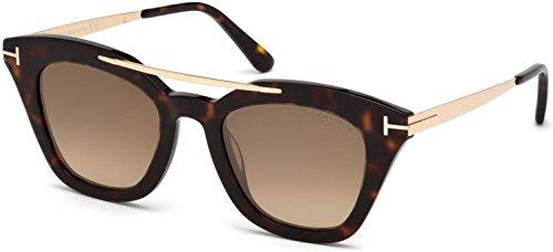 Sunglasses Tom Ford FT 0575 Anna- 02 52G dark havana / brown - Ford Tom Anna Sunglasses