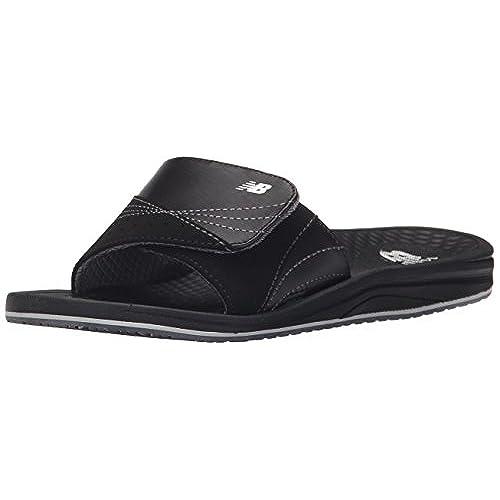 New Balance Women's Purealign Slide Sandal, Black, 9 M US