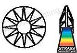 Swarovski Strass Crystal Sun with Laser Logo Etched 40mm # 8950-001-40 Set of 10pc