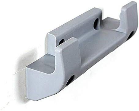 Vaorwne 2Pcs Garden Hose Reel Holder PVC Wall Mounted Garden Hose Hanger Pipe Holder with 8Pcs Expansion Screws