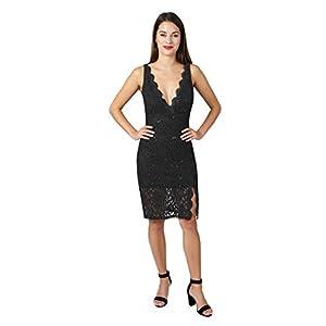 JUMP Women's Midi Sequin Lace Dress