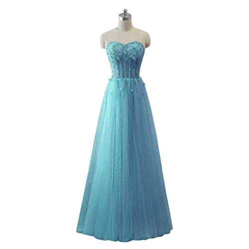 Abendkleid Frauen Long Love Perlen Schatz Formal 54 King's Tulle Maxi Ballkleider xYH7Tqdw