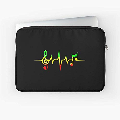 - Music Pulse Reggae Sound Wave Rastafarian Laptop Sleeve - 13 Inch - 15 Inch - The Best Gift for Family and Friends.